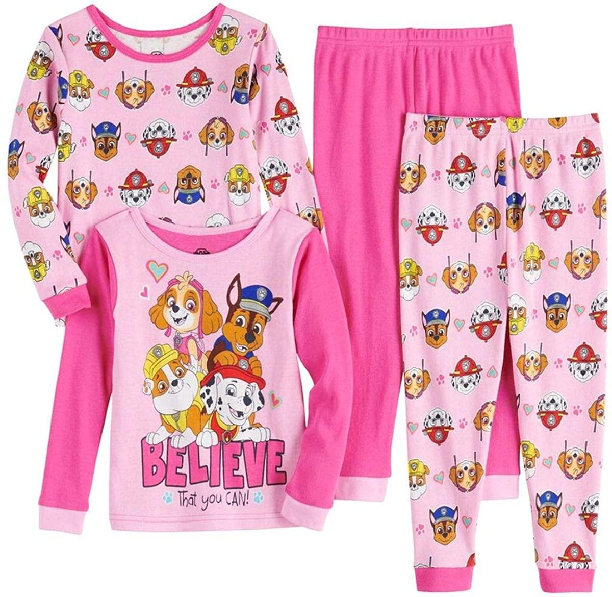 Paw Patrol Skye Believe That You Can 4-Piece Pajama Pants Set
