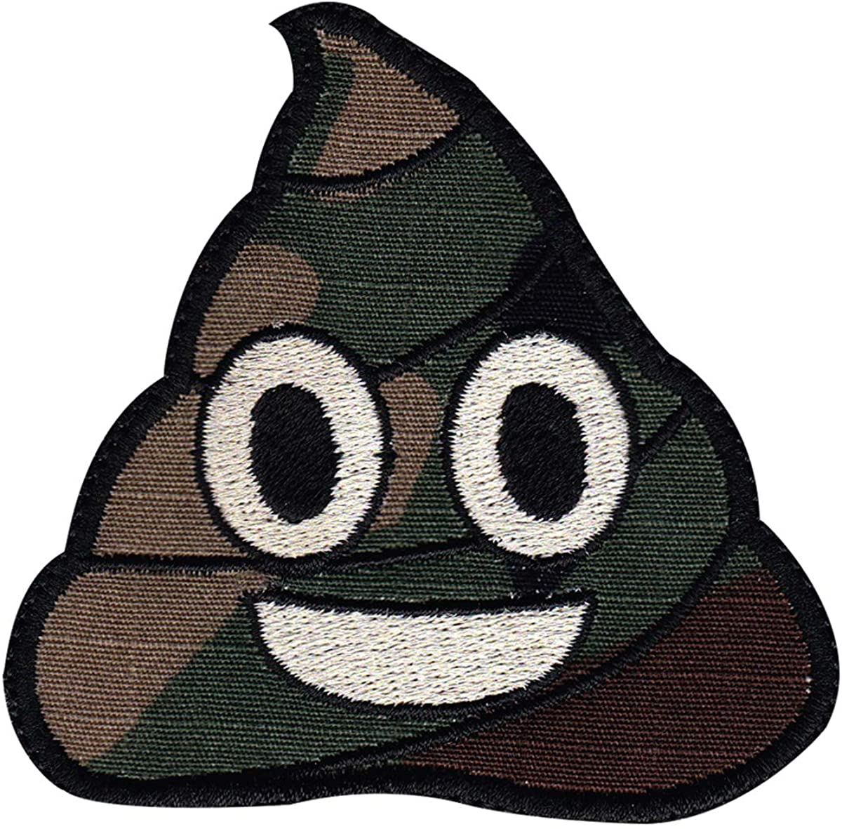 Camo Poo Emoji Patch