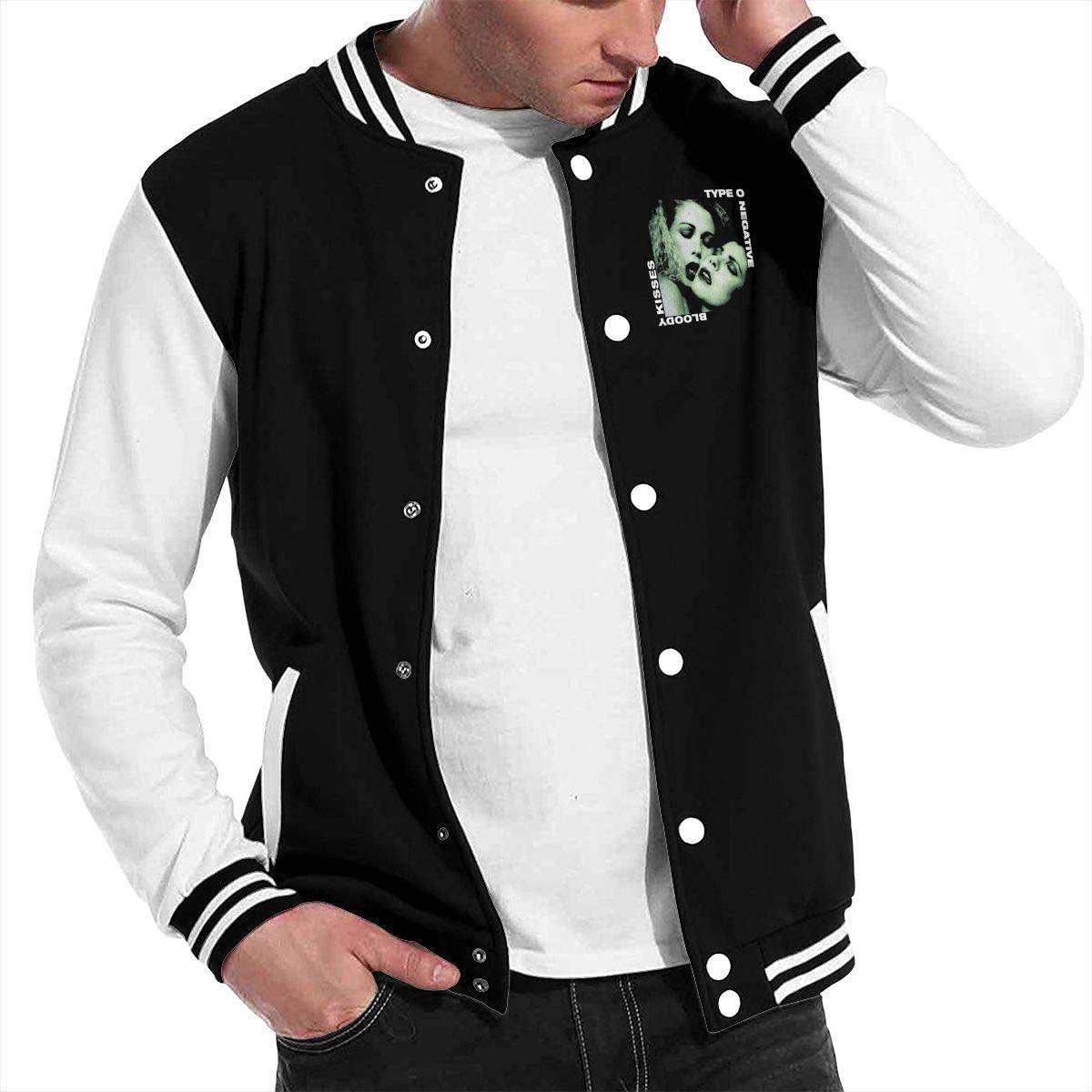 Type O Negative Unisex Hipster Baseball Uniform Jacket Sport Coat Black Black