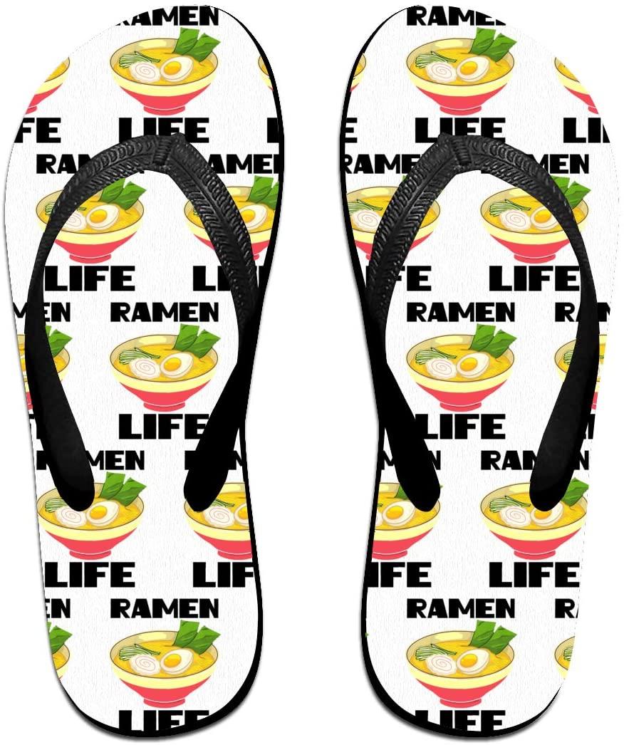 JINYOUR Ramen Life Unisex Flip Flops Summer Slippers Shoes Beach Sandal