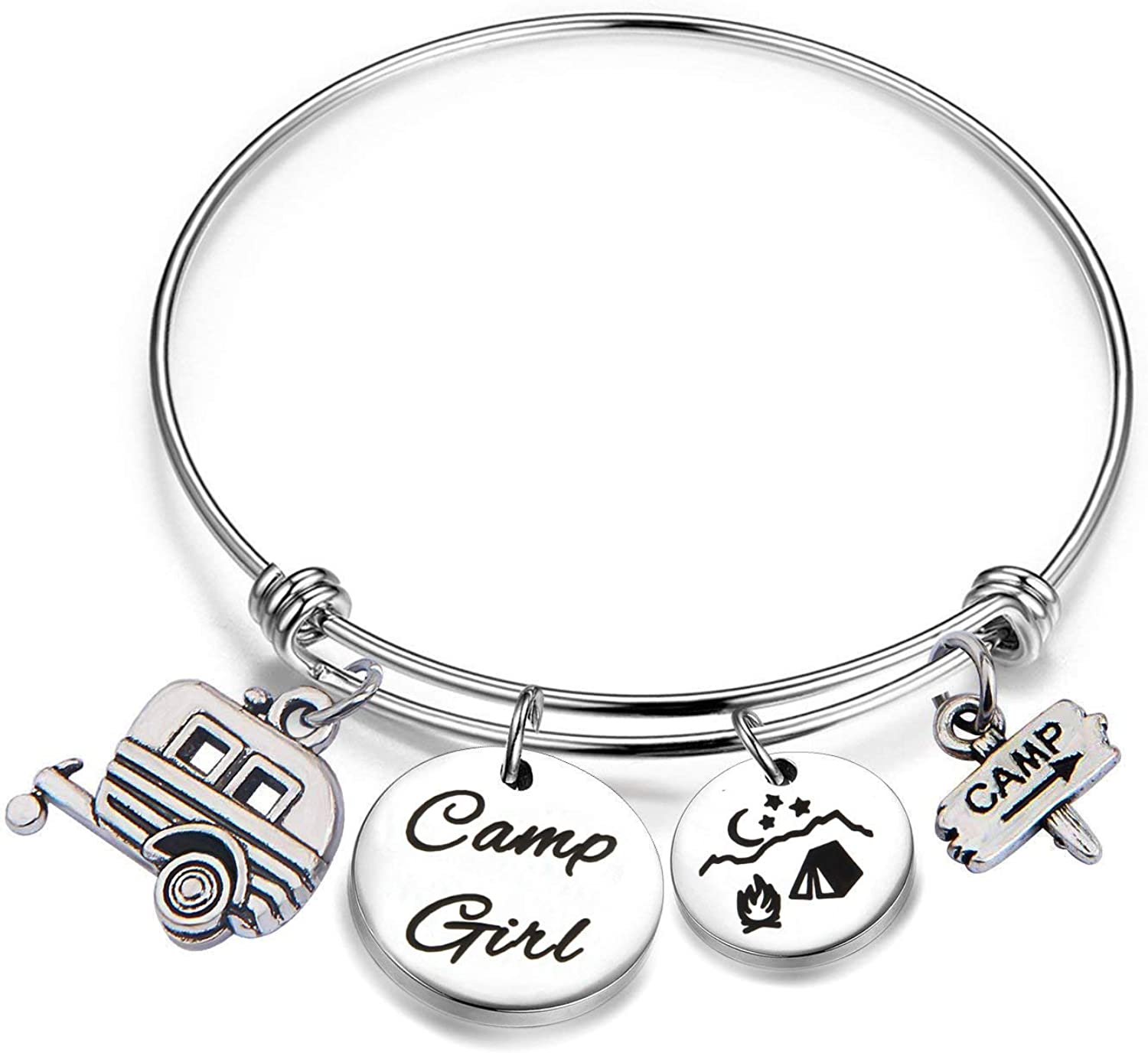 AKTAP Camper Bracelet Camping Jewelry Camping Gifts Outdoor Gifts for Her