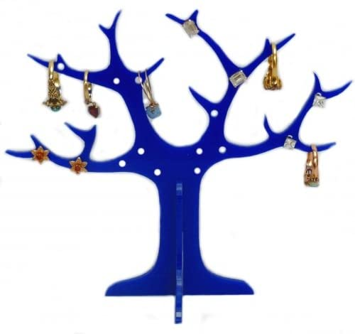 Blue Ring Tree (for earrings and rings) 14cm High and 17cm across