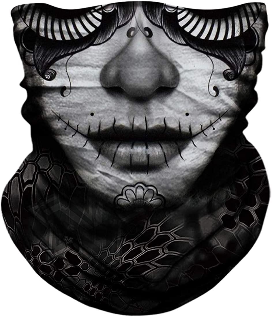 Seamless Neck Gaiter Shield Scarf Bandana Face Mask Seamless UV Protection for Motorcycle Cycling Riding Running Headbands