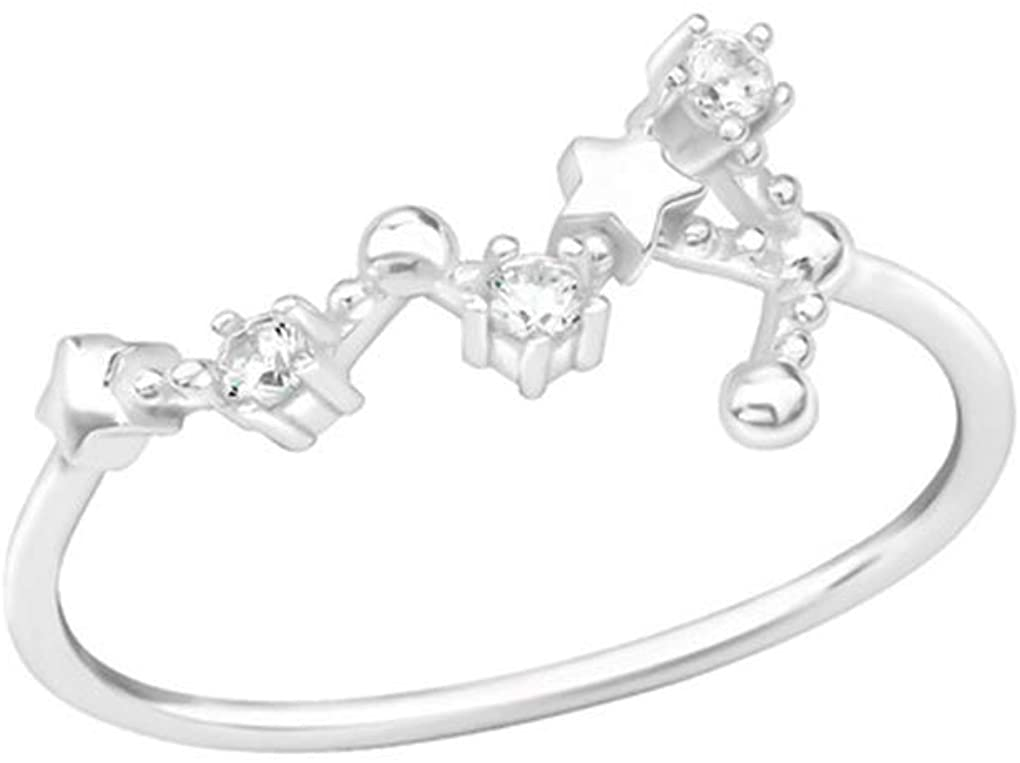 Liara - August-Virgo Jeweled Rings 925 Sterling Silver. Polished and Nickel Free