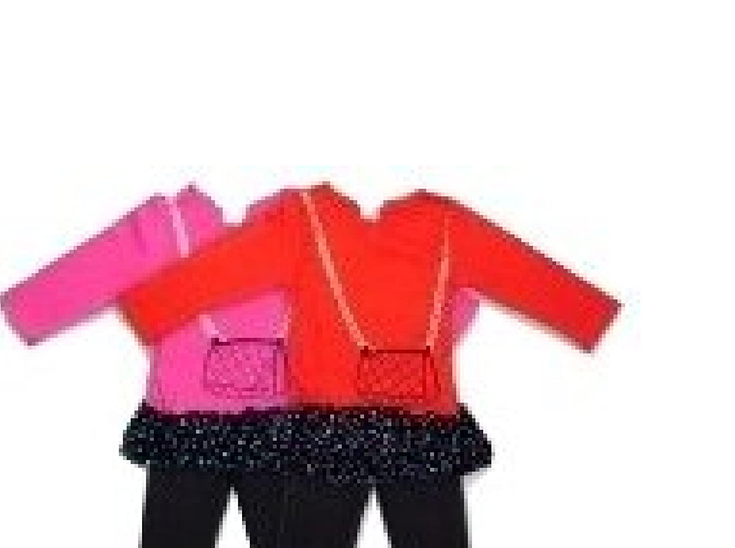 Red Knit Top with Black Lycra Leggings 18-24 Months
