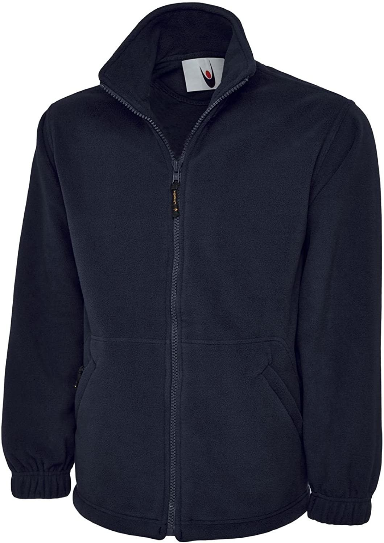 Uneek Clothing Mens Premium Full Zip Fleece Jacket Medium Navy