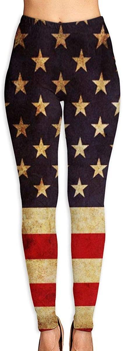 NOT American Flag Women's 3D Digital Print High Wait Leggings Yoga Workout Pants