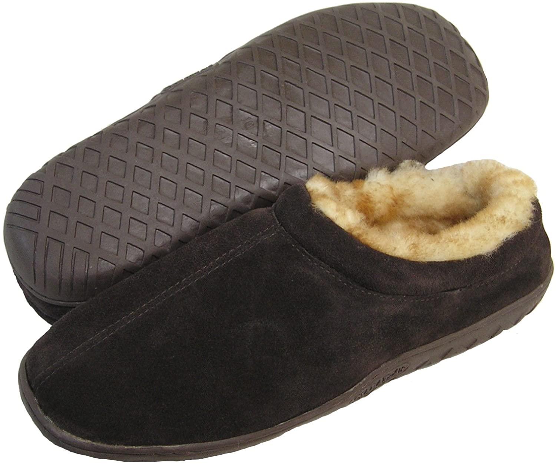 Ciabatta's Men's Shearling Lined Clog Slide Slipper (Brown/Suede)