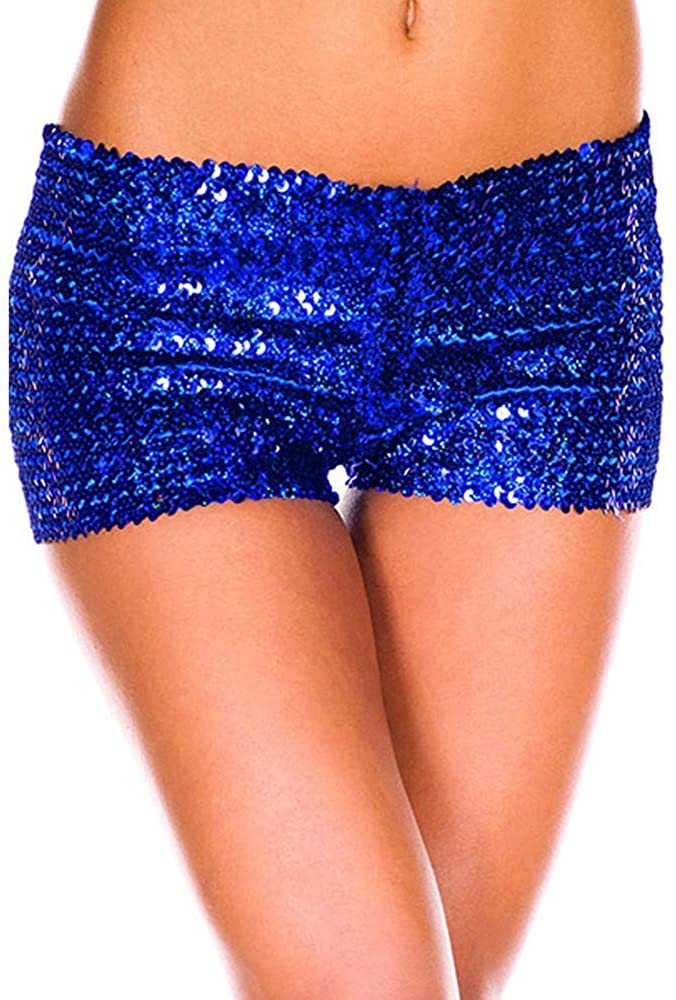 Soluo Women's Sexy Sequin Shorts Panties Sequined Glittery Costume Mini Dancing Short Pants Halloween Costume
