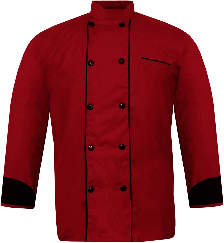 Leorenzo Genesis JK-08 Men Chef Jacket in 10 Colours (12 Sizes)
