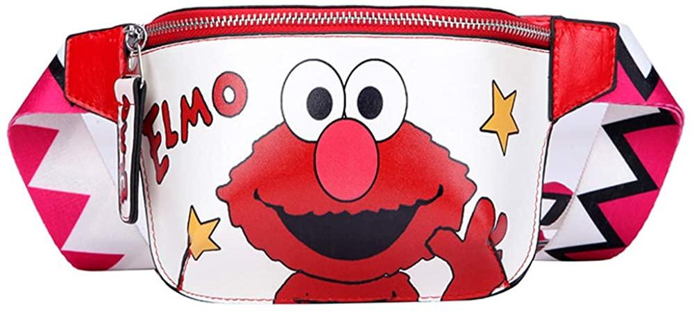 Women Belt Bag Carto Waist Bags Hy Banana Fanny Pack Belt Children Cookie Elmo Mster Girl Hip Bum Bag Lady Chest Bags