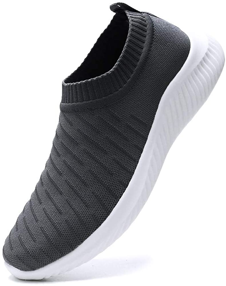 FUDYNMALC Men's Fashion Walking Sock Shoes Lightweight Breathable Mesh Tennis Sneakers Comfortable Knit Slip On Gym Running Shoes