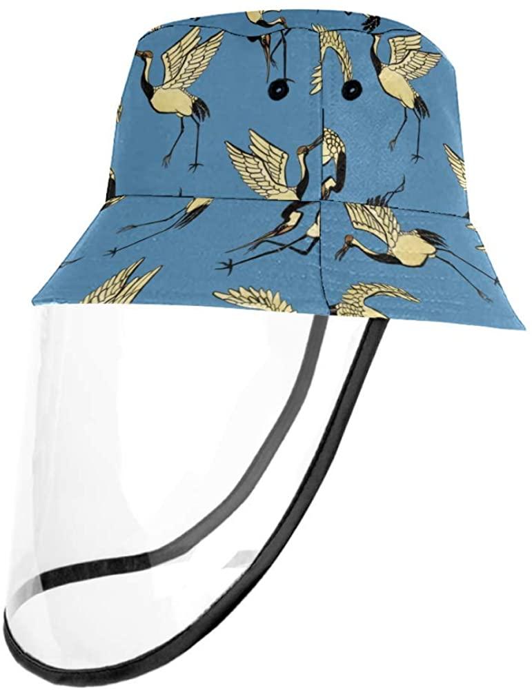 Dancing Cranes Casual Hat Fisherman Cap UV Sun Hats for Boys