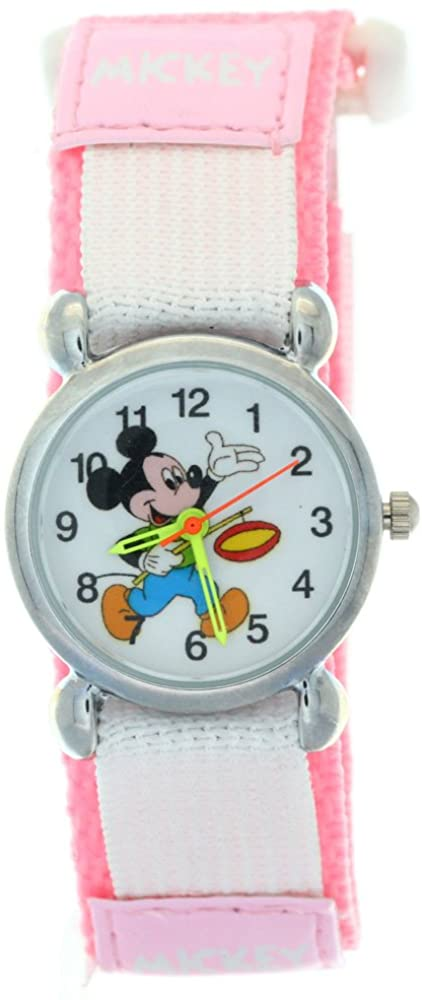 Kids Boys Girls Children Cartoon Magic Tape Fabric Strap Nylon Belt Analog Quartz Sport Time Teacher Watches Fashion Wristwatch