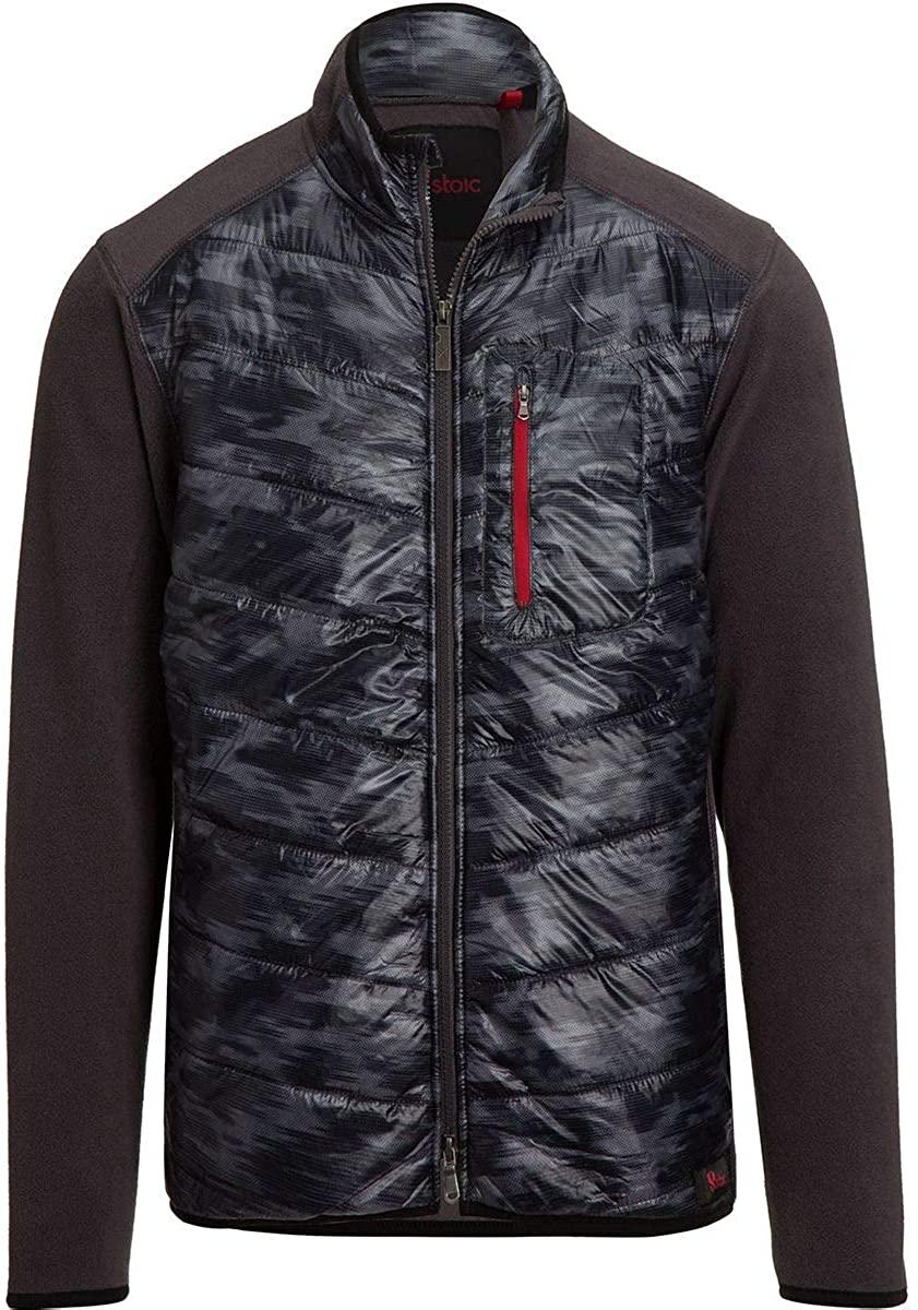 Stoic Mixed Media Hybrid Full-Zip Fleece Jacket - Men's