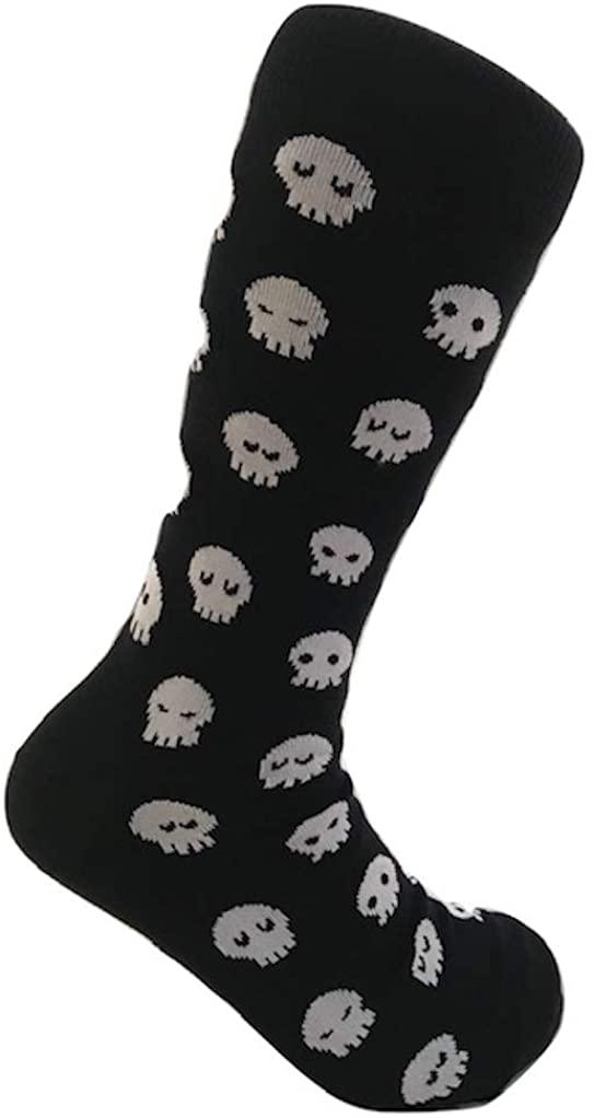 West Socks Men's Funny Casual Peruvian Cotton Fancy Socks Dress Socks Crazy Socks Casual Socks sizes 9-12 US (Skulls)