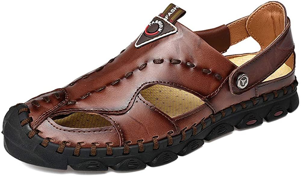 Genuine Leather Sandals Men Summer Shoes Lightweight