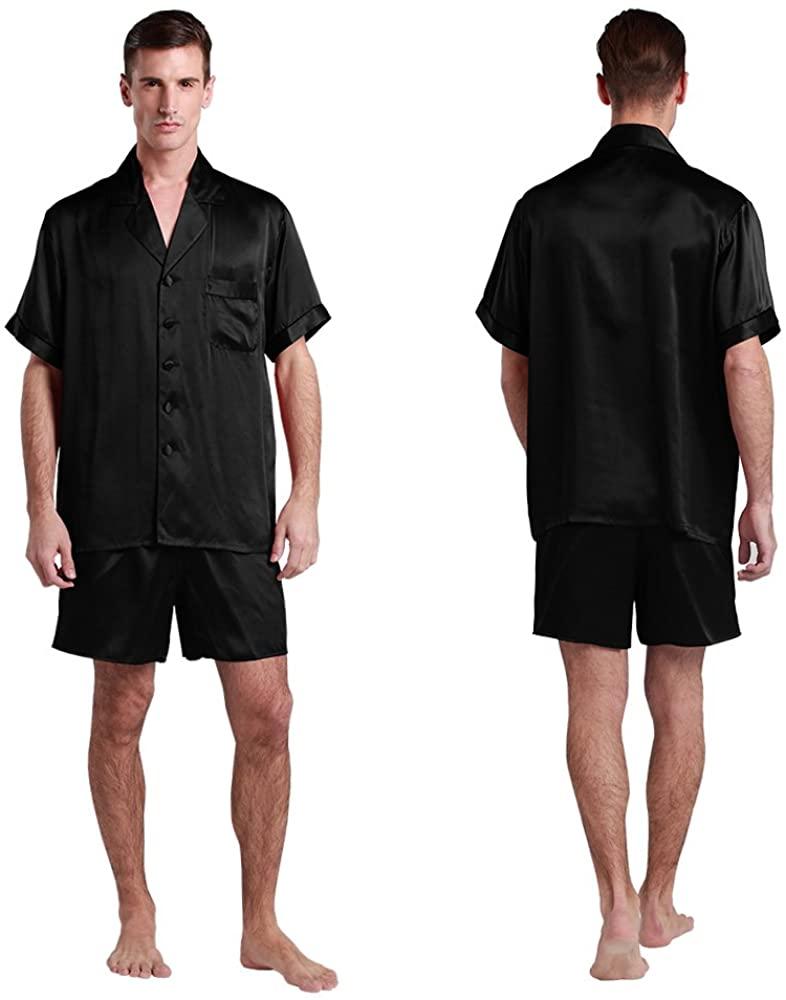 LilySilk Short Affordable Silk Pajamas Men Real Mulberry Designer Soft Summer Sleepwear