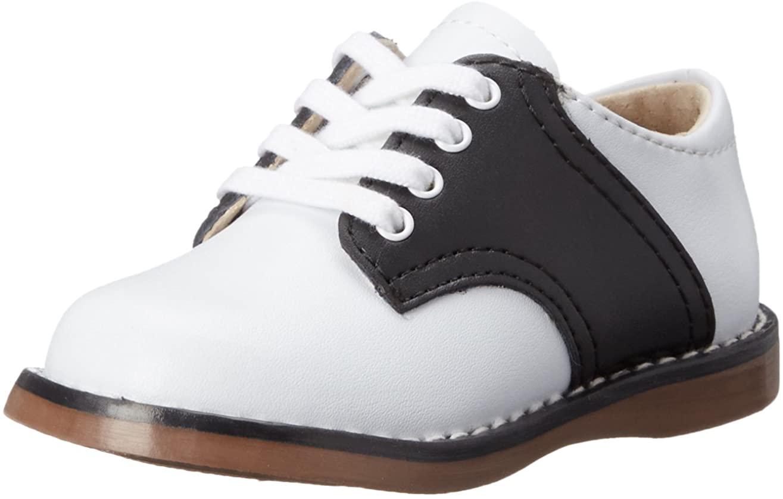 FootMates Unisex Cheer 3 (Infant/Toddler/Little Kid) White/Black Oxford 7.5 Toddler M/W