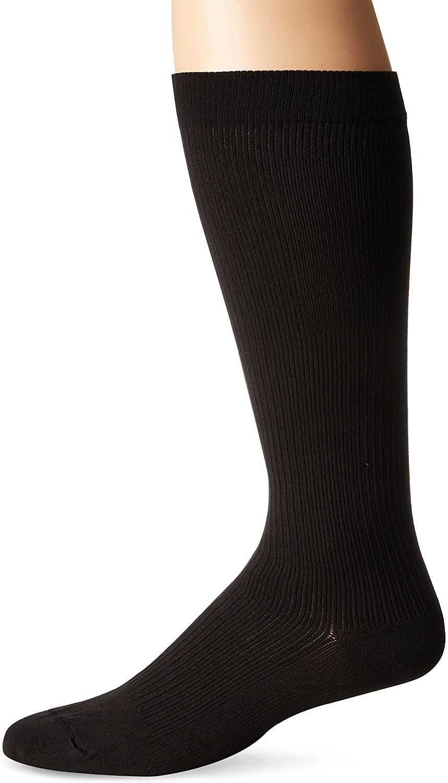 Dr. Scholl's Men's Travel Mild Compression 2 Pack Sock