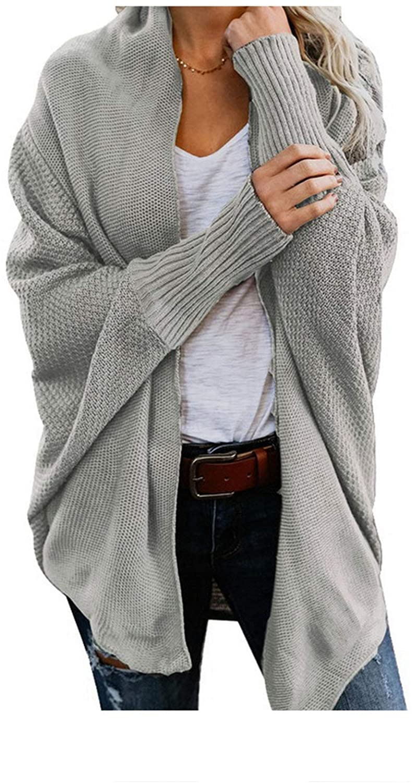 Batwing Sleeve Knitwear Cardigan Women Knitted Sweater Cardigan Elegant Jumper Coat
