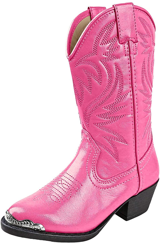 Smoky Children's Kid's Hot Pink Western Cowboy Boot