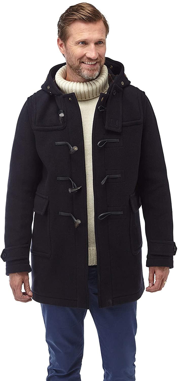 Men's Soho Elegance Duffle Coat Horn Toggles Navy
