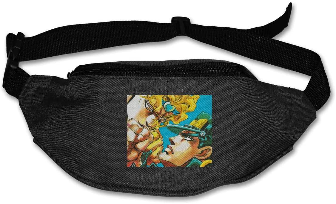 TeriDDeas JoJo's Bizarre Adventure Unisex Best Combo Fanny Pack Waist Bag Phone Holder Adjustable Running Belt for Cycling,Hiking,Gym