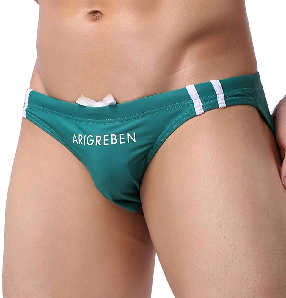 POQOQ Short Swim Trunks Mens Slim Fit Quick Dry with Mesh Lining XL Green