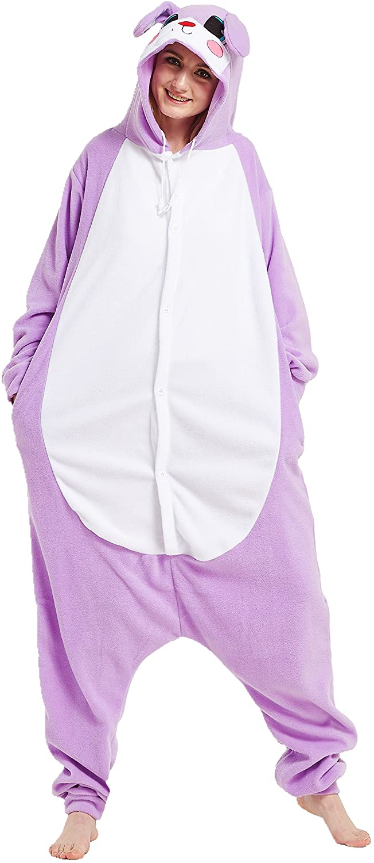 MizHome Halloween Costume Hooded Pajamas Kigurumi Cartoon Cosplay Rabbit