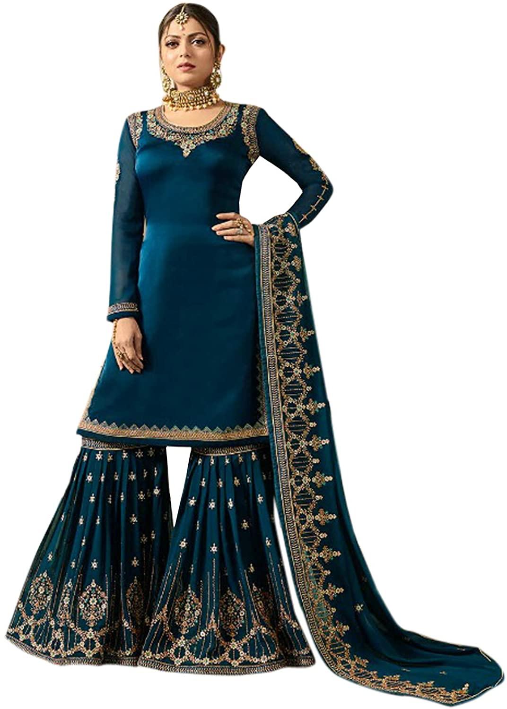 Heavy Embroidered Wedding wear Sharara Suit Designer Fancy Fabric Sharara/Plazo with Heavy Dupatta Style for Women