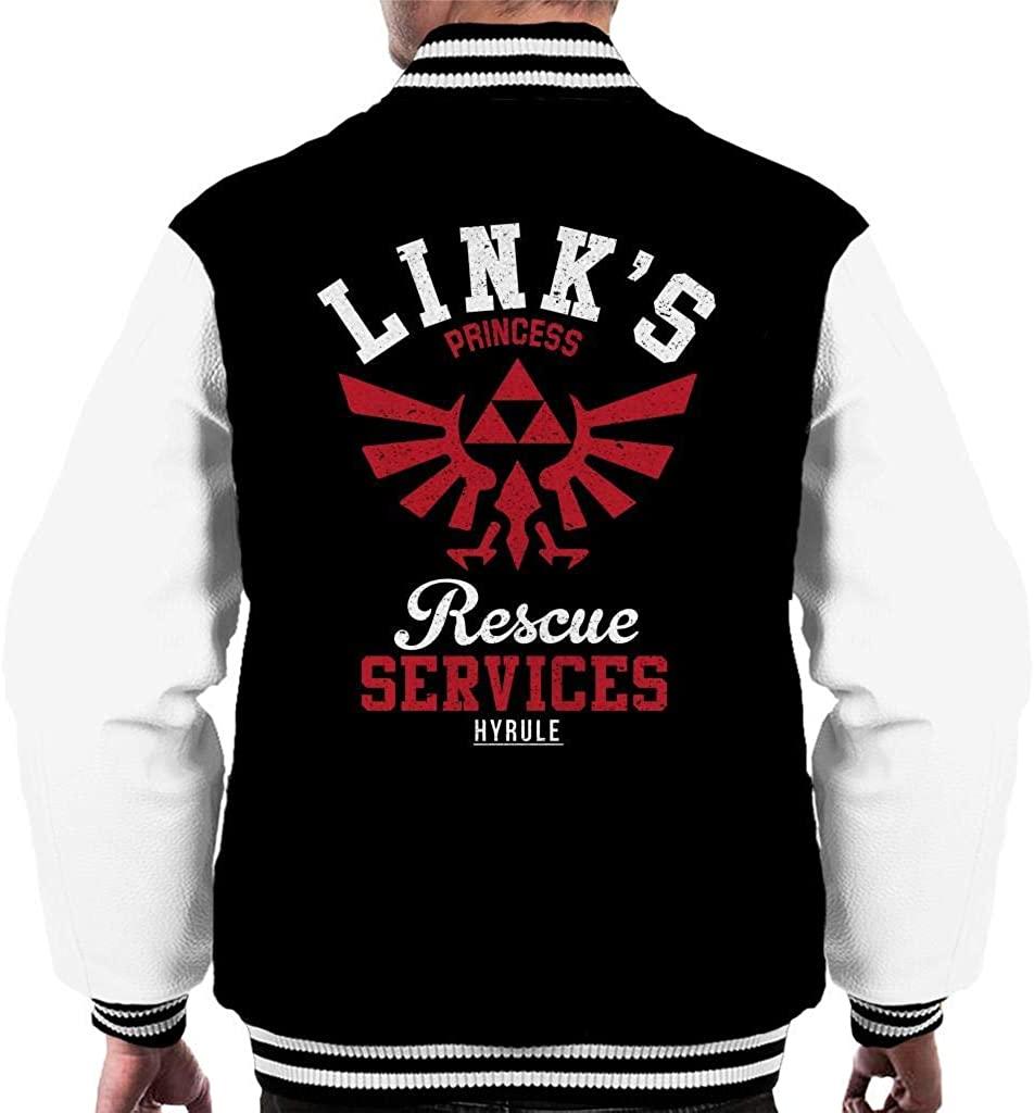 Links Princess Rescue Services Legend of Zelda Men's Varsity Jacket
