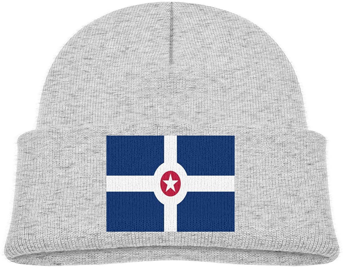 ZWZ Indianapolis City Flag Toddler's Hats Winter Knit Beanie Cap Skull Cap
