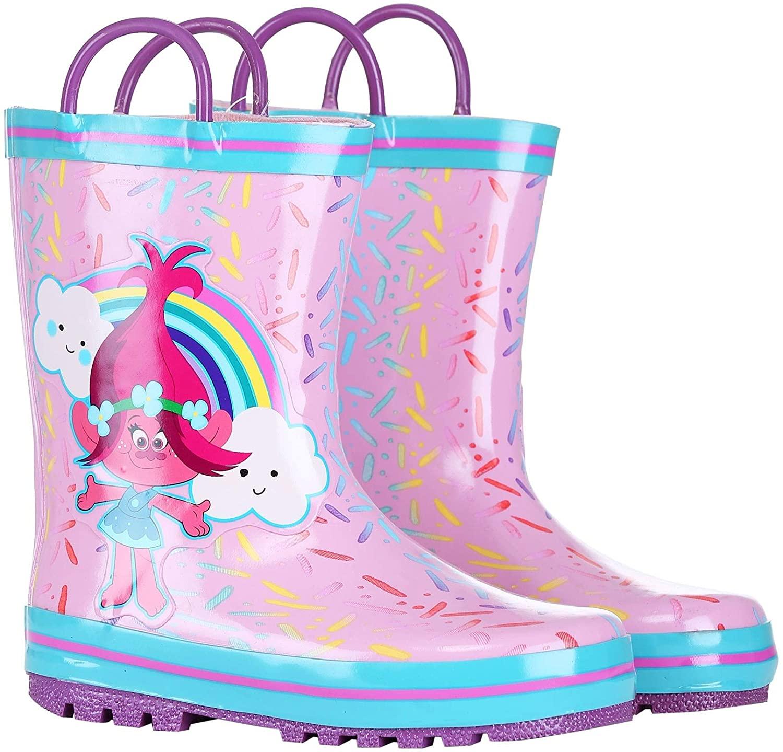 Trolls Poppy Pink w/Blue Rain Boot