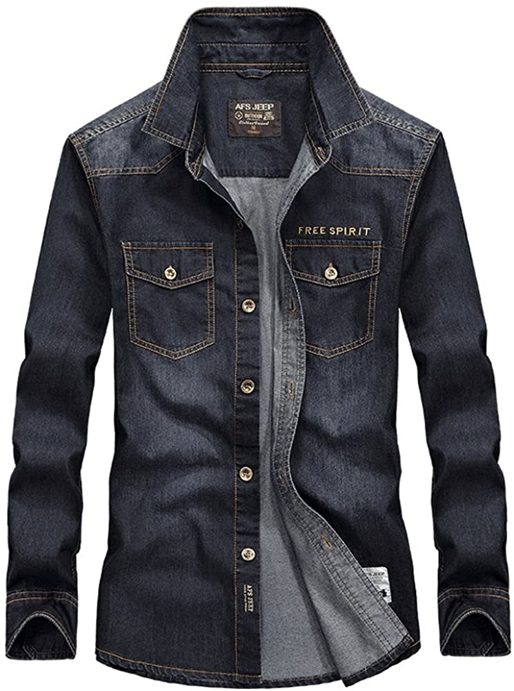 Icegrey Men's Autumn Cowboy Stand Collar Jacket