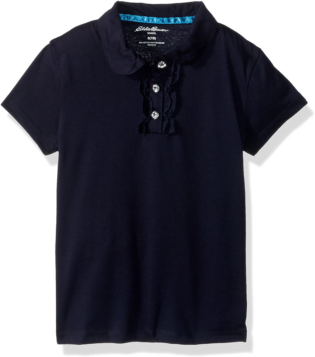 Eddie Bauer Girls' Short Sleeve Jersey Polo Shirt (More Styles Available)
