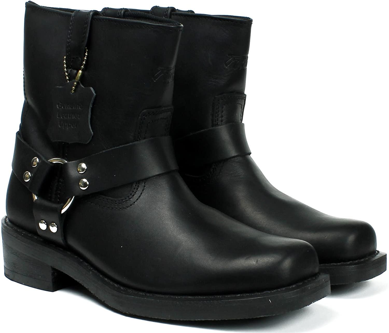 LABO Fuda Men's Leather Working Boot - 3612-BLACK-13