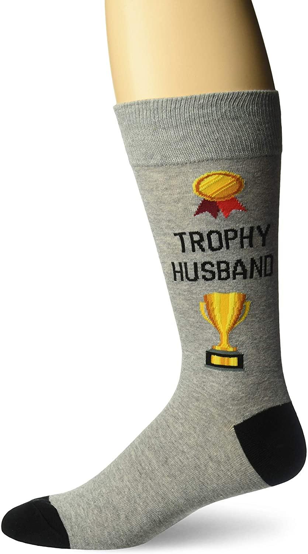 Hot Sox Men's Wedding Bliss Novelty Casual Crew Socks