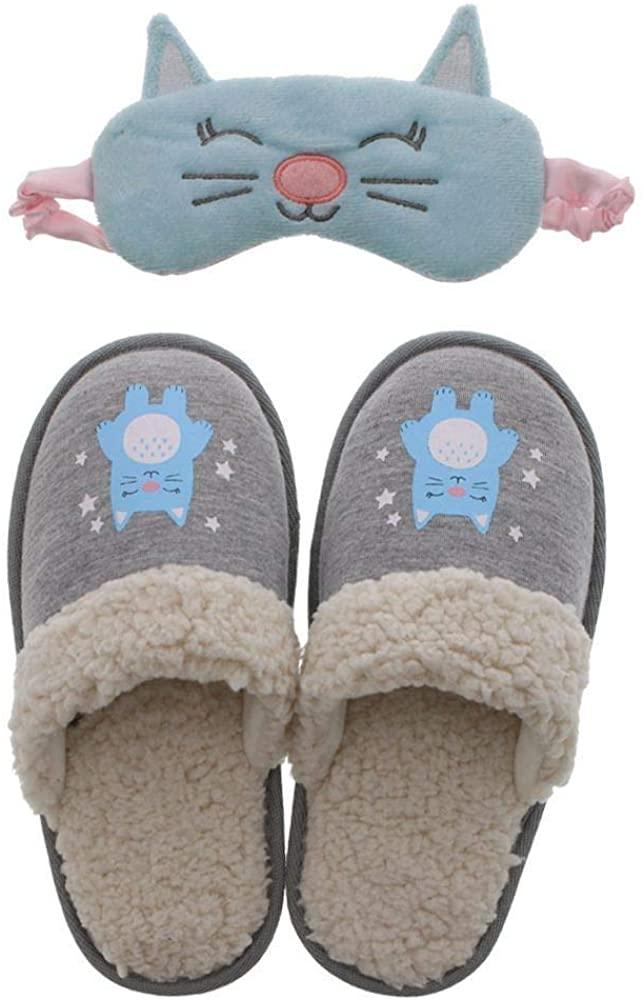 Cat Slipper & Sleep Mask Gift Set