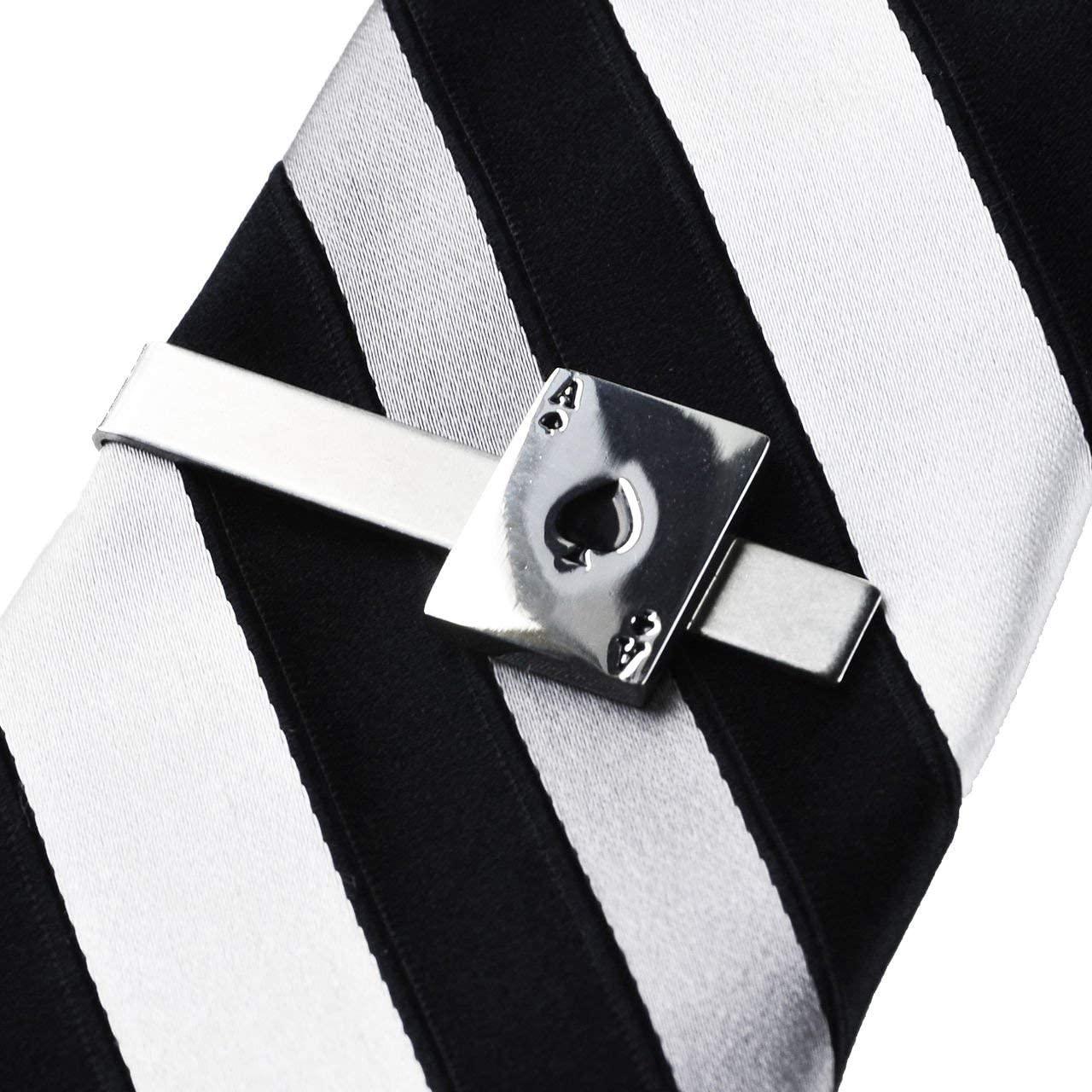 Quality Handcrafts Guaranteed Ace of Spades Tie Clip