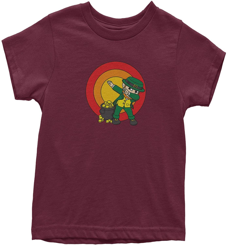 Expression Tees Dabbing Leprechaun Rainbow Youth T-Shirt