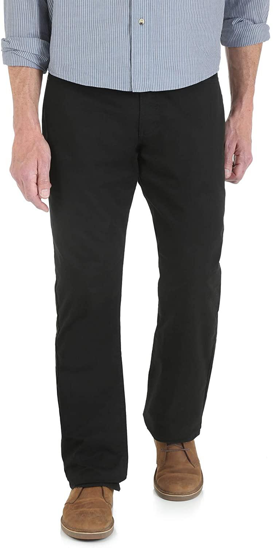 Wrangler Men's Straight Fit 5-Pocket Pant Black 38x32
