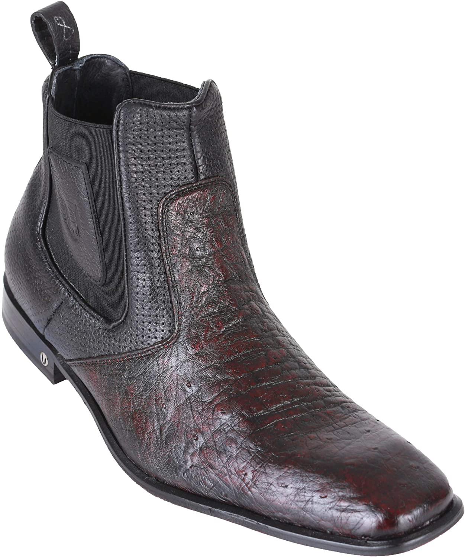 Men's Vestigium Genuine Smooth Ostrich Chelsea Boots Handcrafted