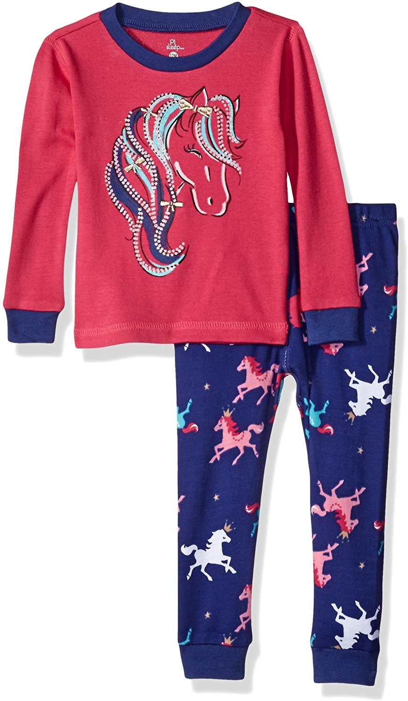 Petit Lem Baby Girls' Circus Pajama 2 Piece Set