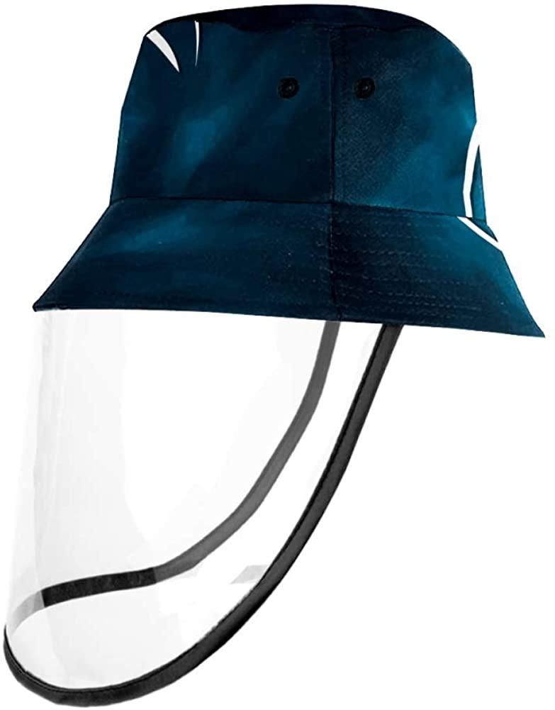 American Football Black Sketch Cap UV Sun Detachable Hat Bucket Caps for Women and Men