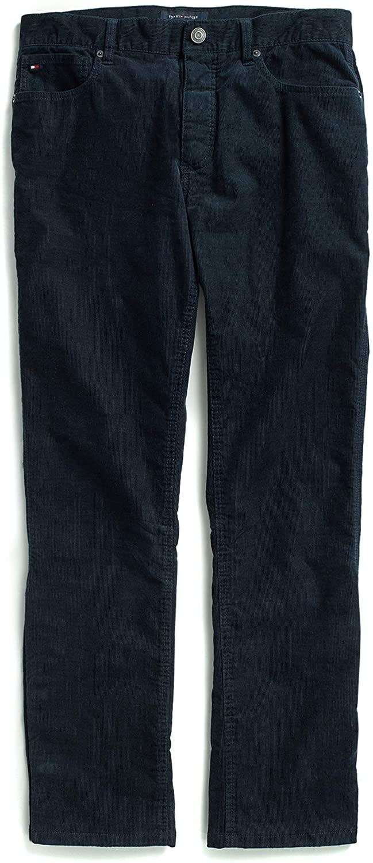 Tommy Hilfiger Mens Adaptive Courduroy Pants Slim Adjustable Waist and Magnet Buttons