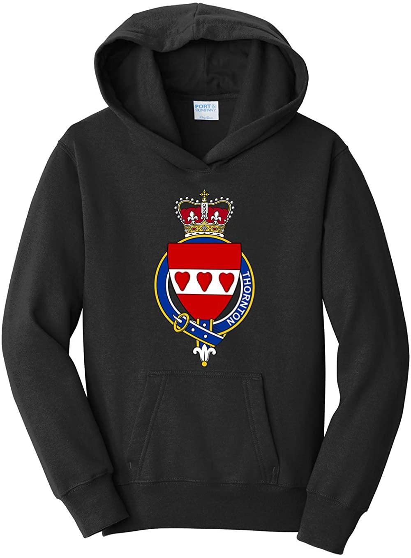 Tenacitee Boy's Youth Scottish Garter Family Thornton Hooded Sweatshirt