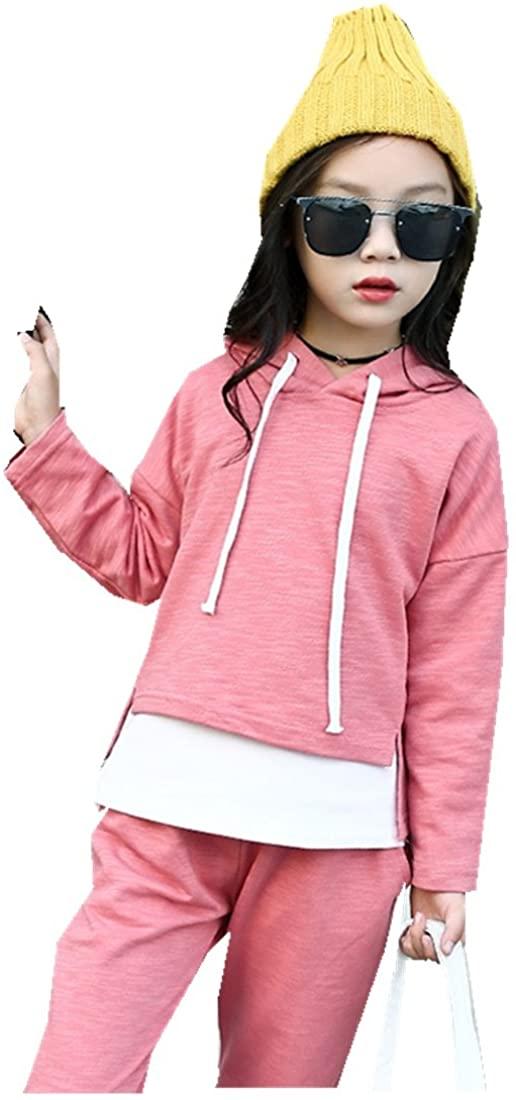 MV Autumn Korean Leisure Suit Girls Hoodie + Sweat Pants Two Piece Hot Kids Sets