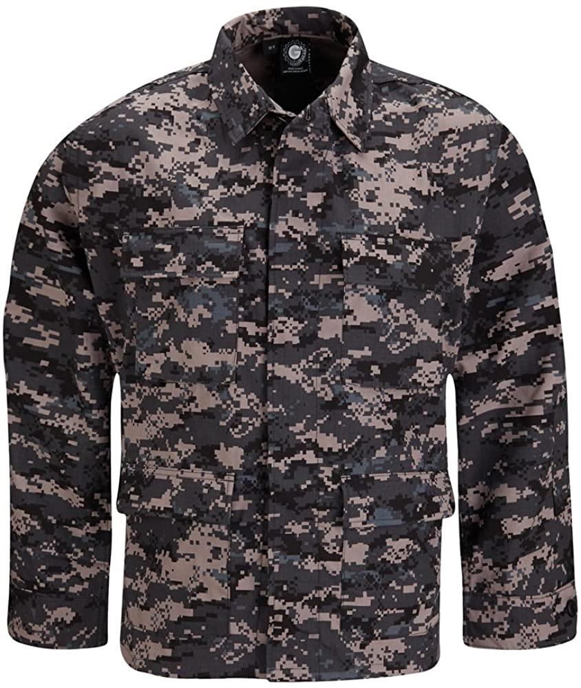 Propper Uniform BDU Coat Regular Length 60/40 Cotton/Polyester Ripstop Subdued Urban Digital XXLR