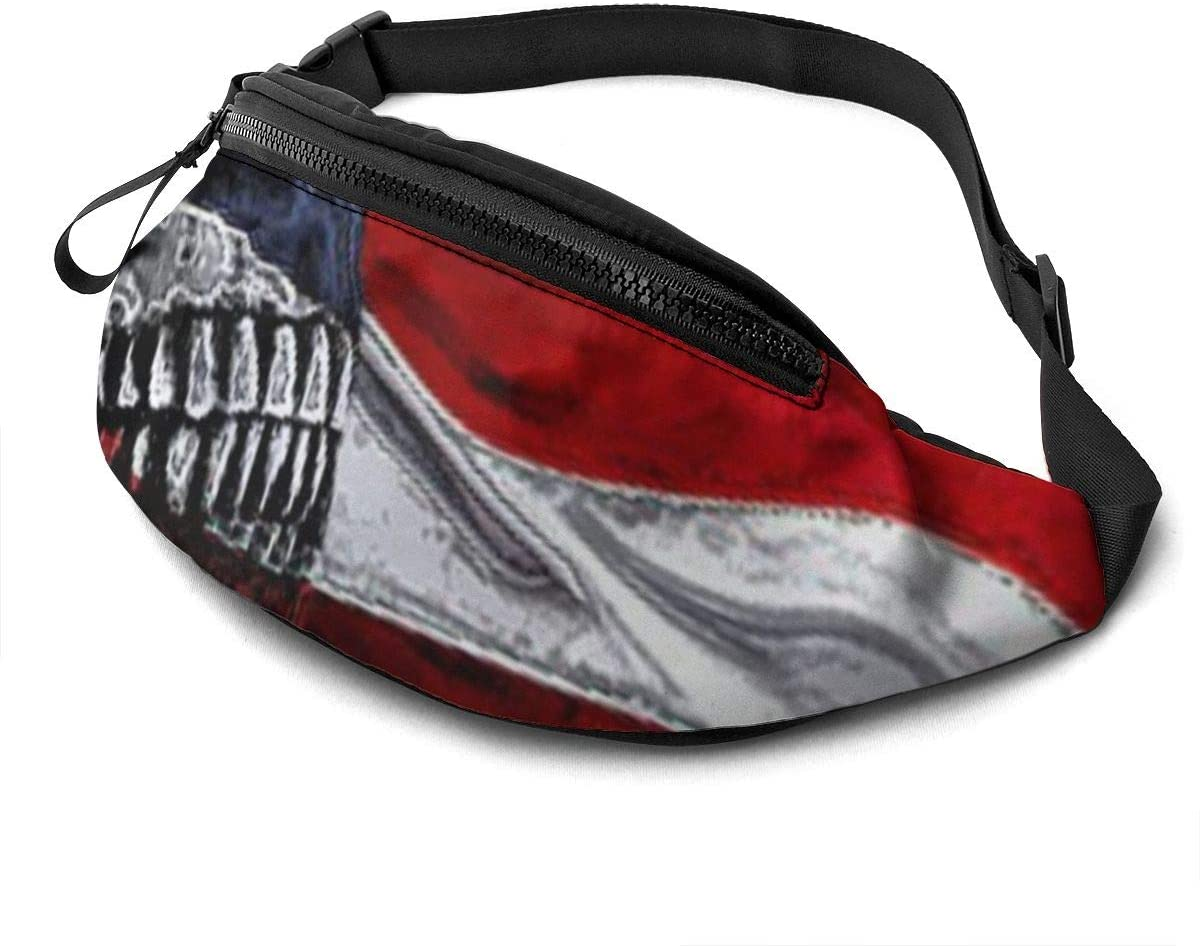 Skull America Fanny Pack Fashion Waist Bag